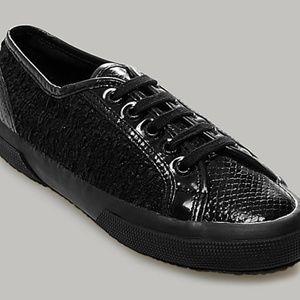 Exclusive Rodarte x Superga Collab Black Sneakers